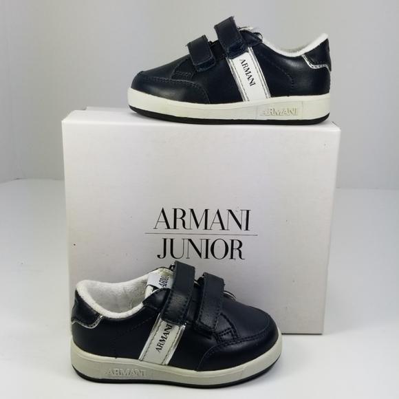 Armani Junior Shoes | Marine Blue Boys